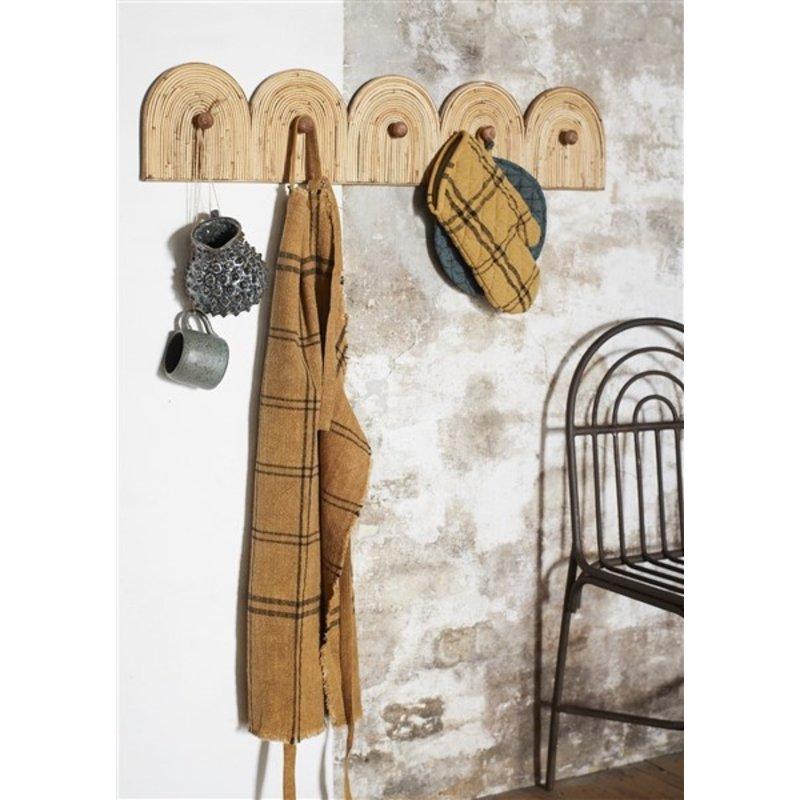 Madam Stoltz-collectie Rattan coat rack - Natural