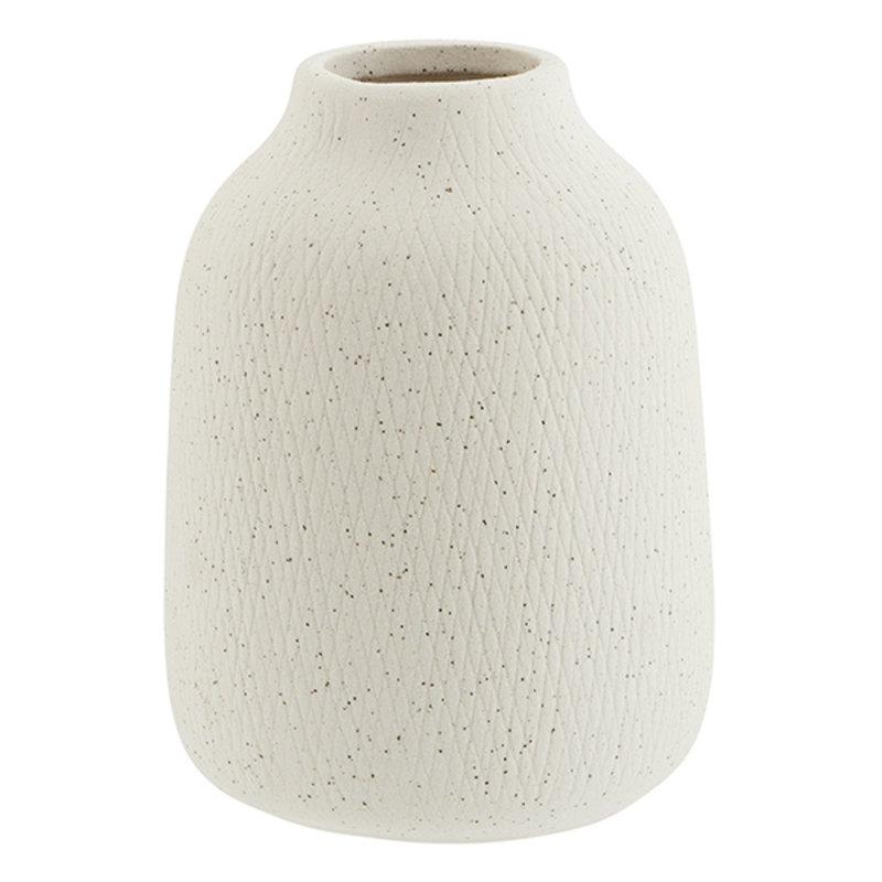 Madam Stoltz-collectie Stoneware vase - Matt off white