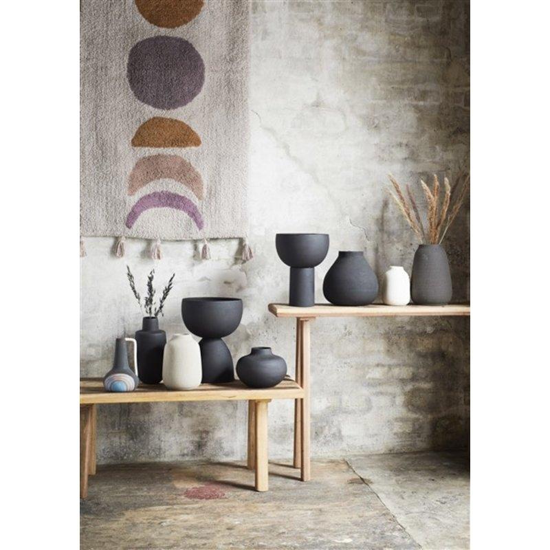 Madam Stoltz-collectie Stoneware vase - Matt black