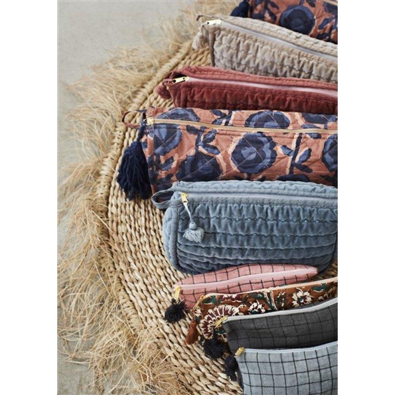 Madam Stoltz-collectie Round seagrass rug w/ fringes - Natural