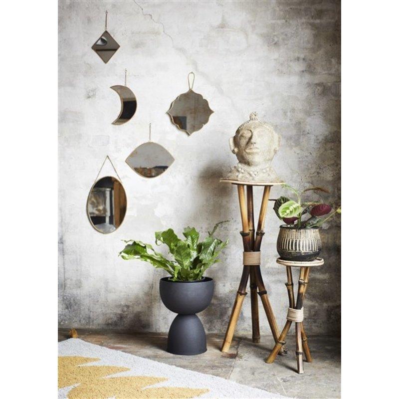 Madam Stoltz-collectie Iron vase - Matt black