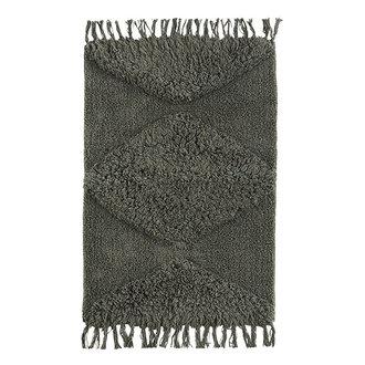 Madam Stoltz Tufted cotton bath mat - Ivy