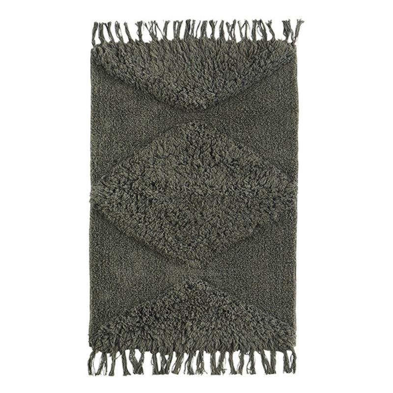 Madam Stoltz-collectie Tufted cotton bath mat - Ivy