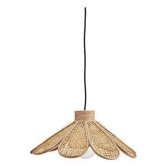 Madam Stoltz Bamboe hanglamp met rotan