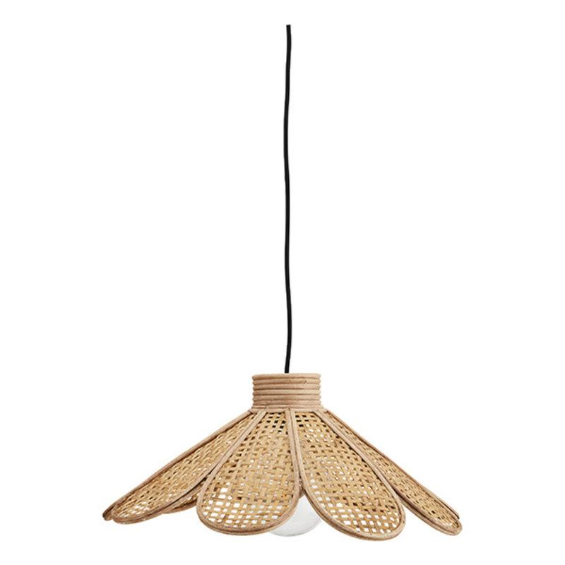Madam Stoltz-collectie Bamboe hanglamp met rotan