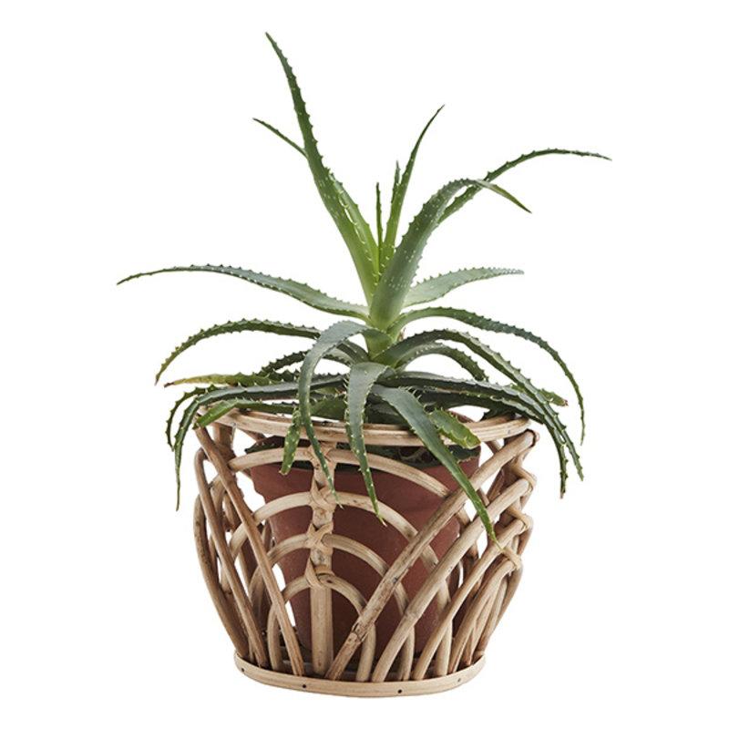Madam Stoltz-collectie Bamboo flower pot holder - Natural