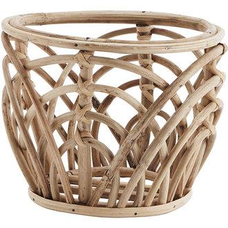 Madam Stoltz Bamboo flower pot holder - Natural