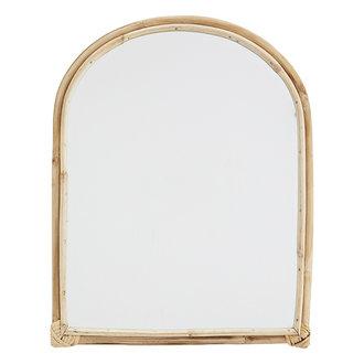 Madam Stoltz Oval mirror w/ bamboo - Natural