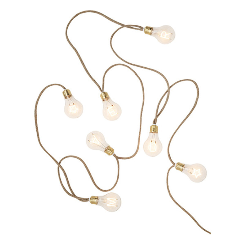 Madam Stoltz-collectie Indoor wire lights w/ filament text - Natural, clear, gold