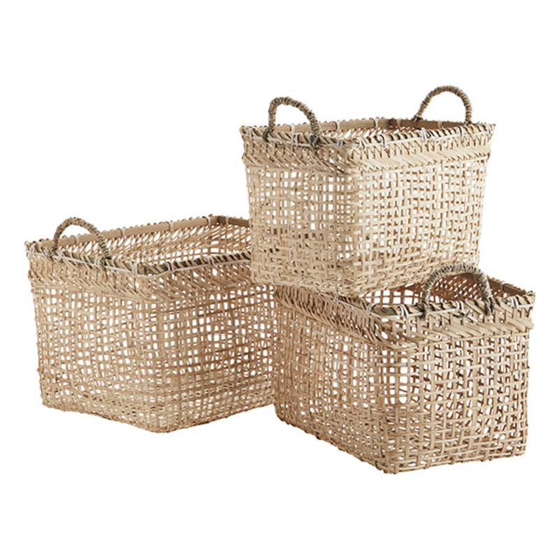 Madam Stoltz-collectie Bamboe manden - set van 3