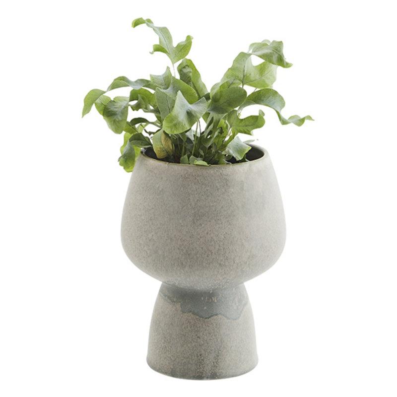 Madam Stoltz-collectie Stoneware flower pot - Grey