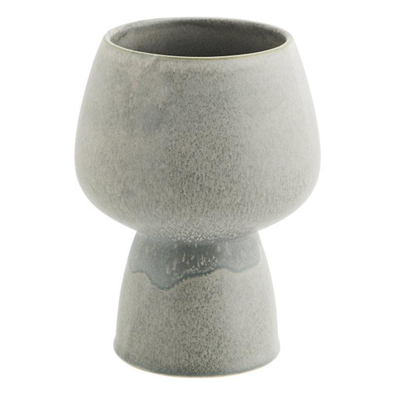 Madam Stoltz-collectie Keramieken bloempot grijs 21 cm