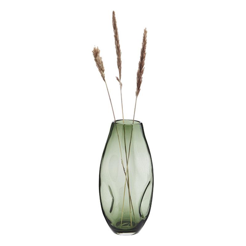 Madam Stoltz-collectie Glazen vaas groen 34,5 cm