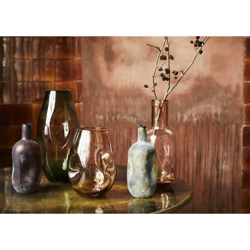 Madam Stoltz-collectie Organic shaped glass vase - Amber