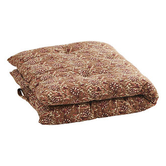 Madam Stoltz Printed cotton mattress - Indian tan, burnt henna, sorbet, off white