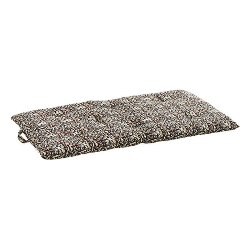 Madam Stoltz-collectie Printed cotton mattress - Black, off white, blue, rust