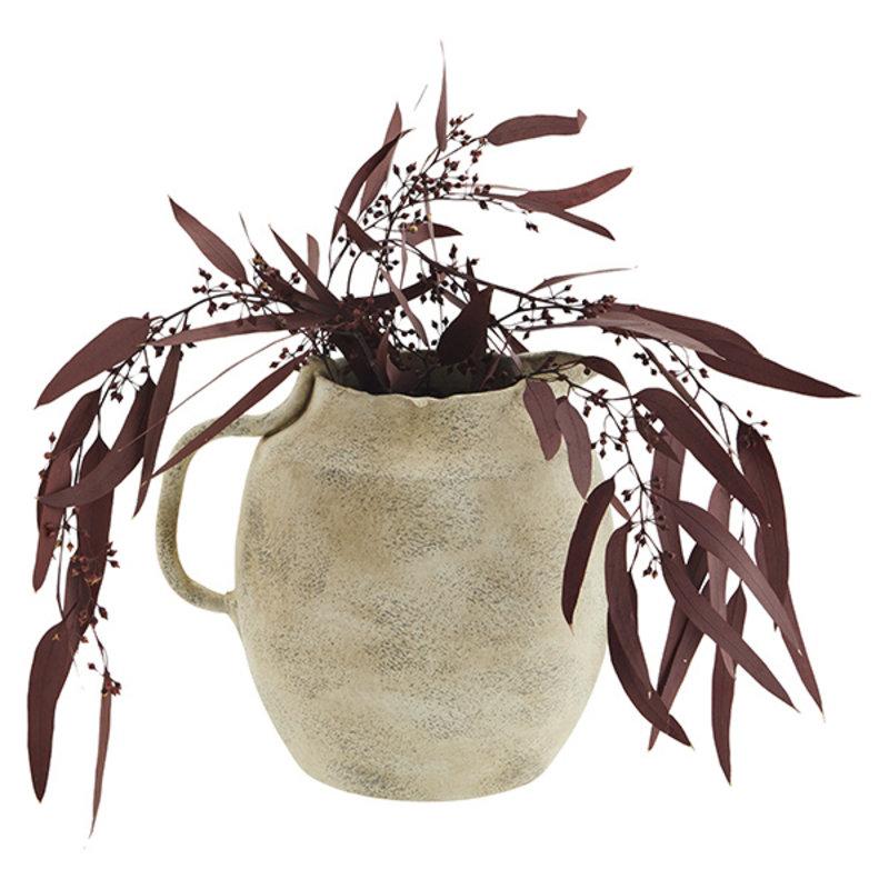 Madam Stoltz-collectie Terracotta vaas beige 20,5 cm