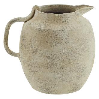 Madam Stoltz Terracotta vase - Washed beige