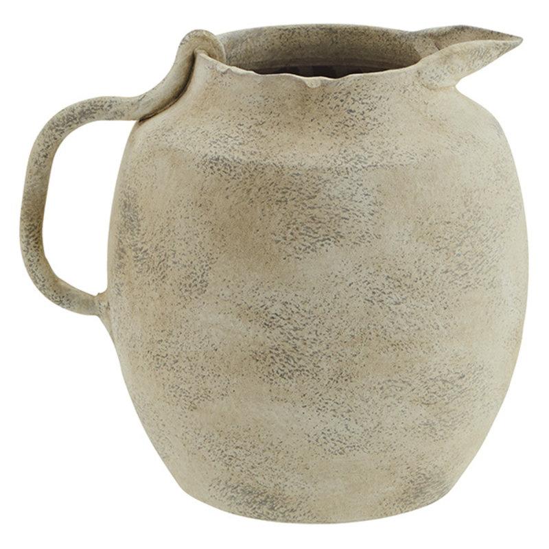 Madam Stoltz-collectie Terracotta vase - Washed beige