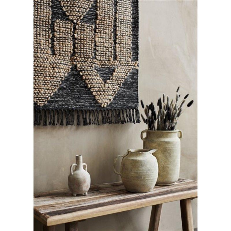 Madam Stoltz-collectie Terracotta vase - Washed white, sand, sorbet