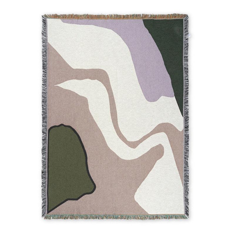 ferm LIVING-collectie Vista Blanket - Lilac