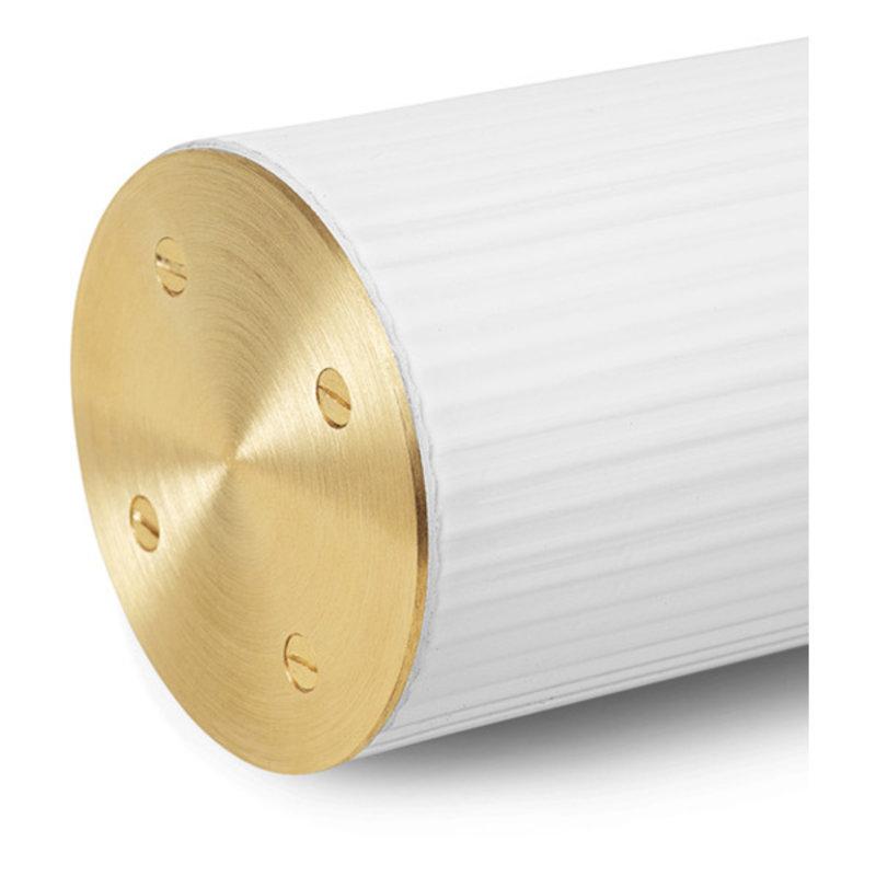 ferm LIVING-collectie Vuelta Pendant 100-White/Brass