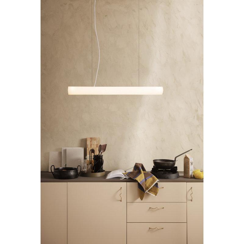 ferm LIVING-collectie Hanglamp Vuelta  100 Wit - Brass