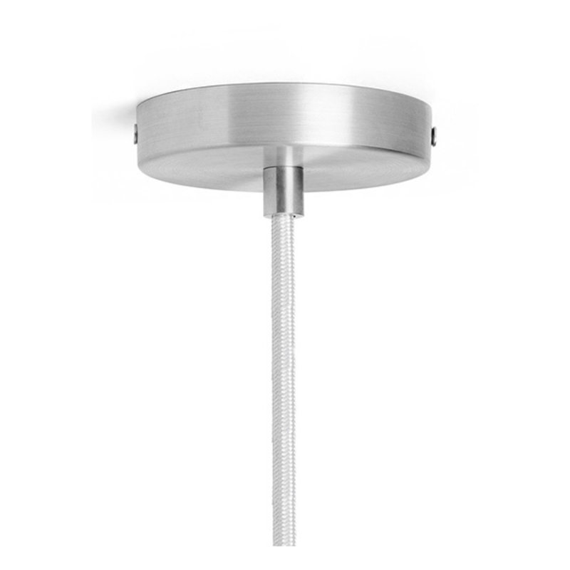 ferm LIVING-collectie Vuelta Pendant 100-White/Stainless Steel