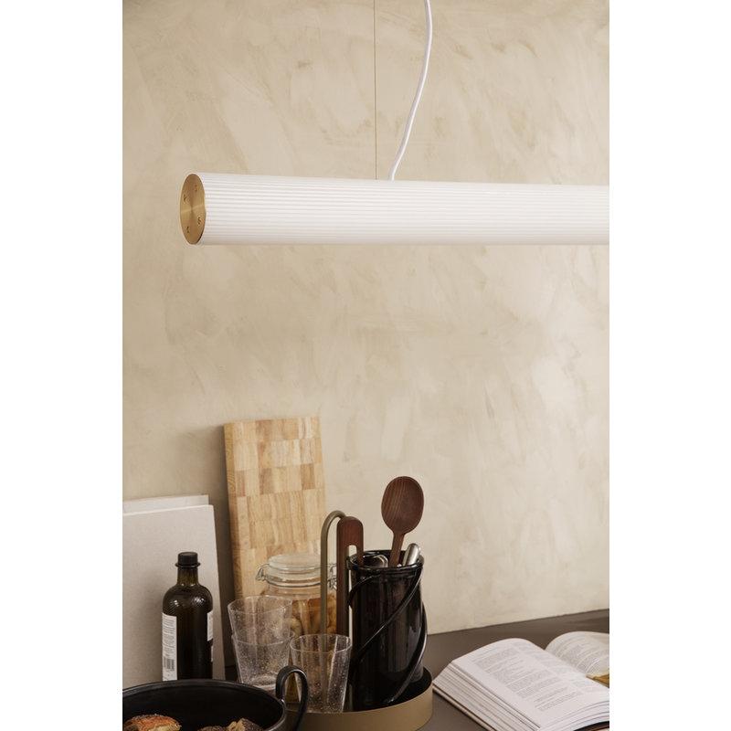 ferm LIVING-collectie Hanglamp Vuelta 60 Wit - Brass