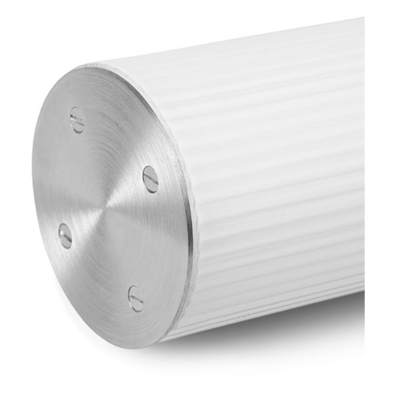 ferm LIVING-collectie Vuelta Pendant 60-White/Stainless Steel