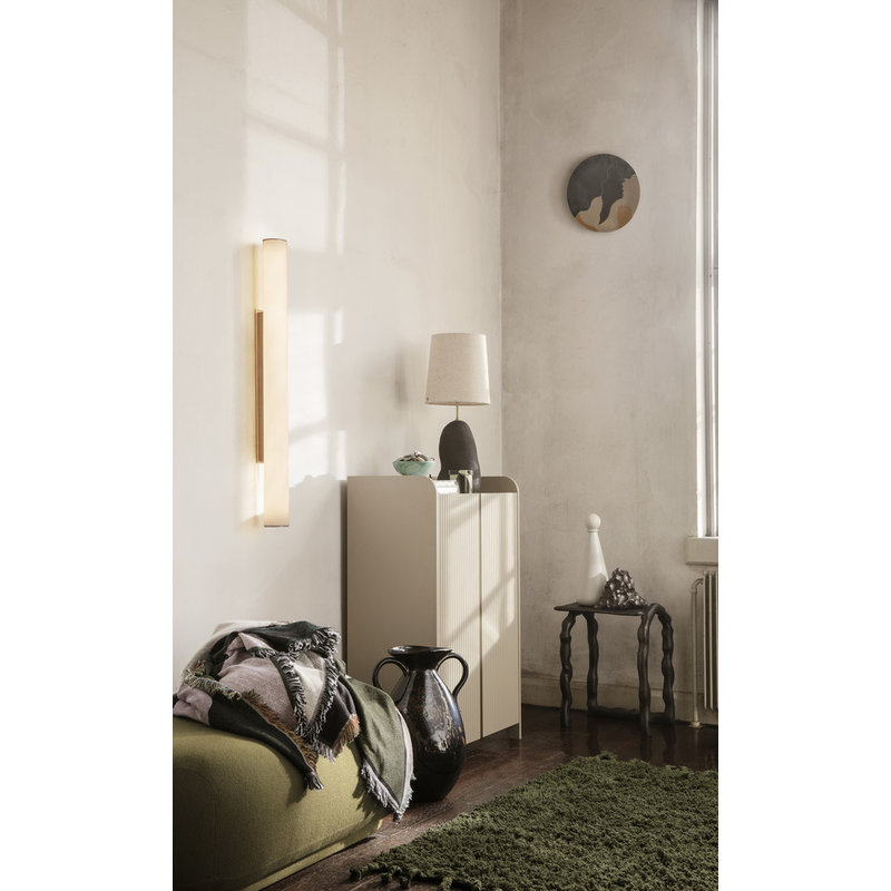ferm LIVING-collectie Vuelta Wall Lamp 100-White/Brass