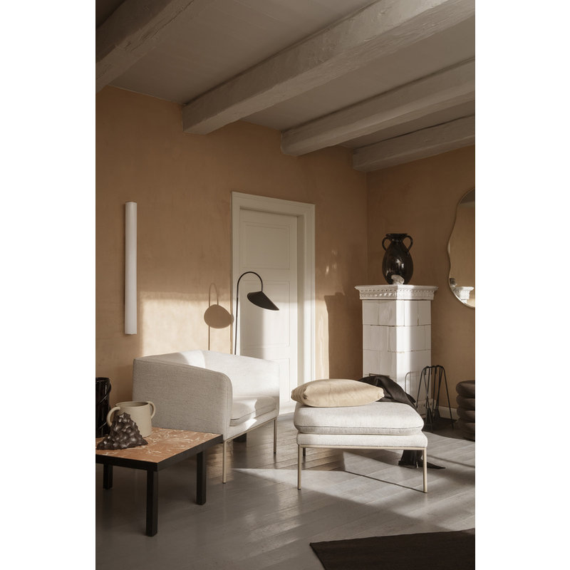 ferm LIVING-collectie Vuelta Wall Lamp 100-White/Stainless St.