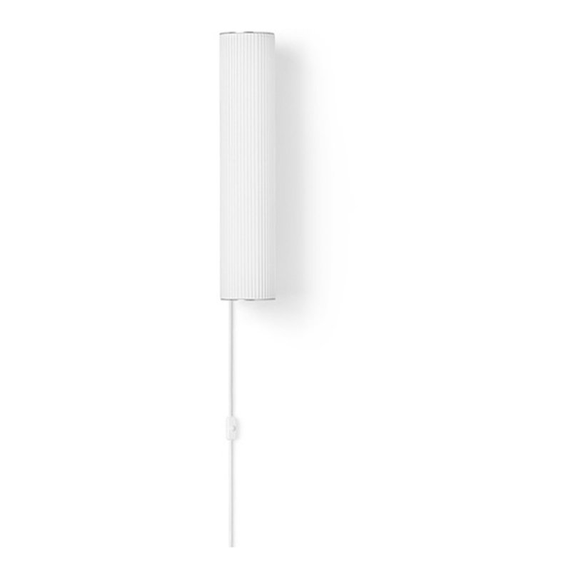 ferm LIVING-collectie Vuelta Wall Lamp 40-White/Stainless St.