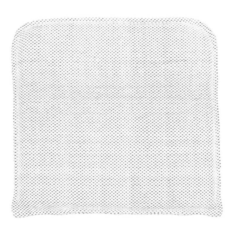 House Doctor-collectie Zitkussen Cuun zwart/wit 48x48 cm