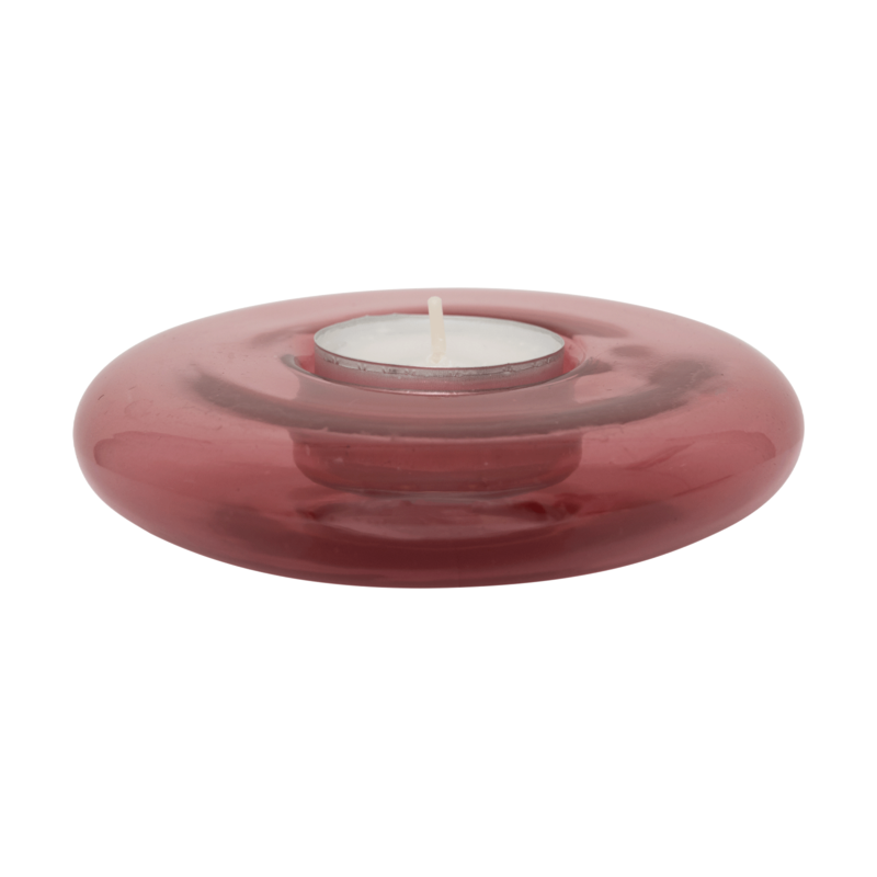 Urban Nature Culture-collectie Waxinehouder recycled glas roze