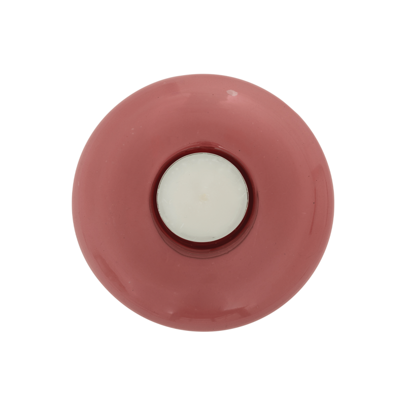 Urban Nature Culture-collectie Tealight Holder Recycled Glass, Branded Apricot