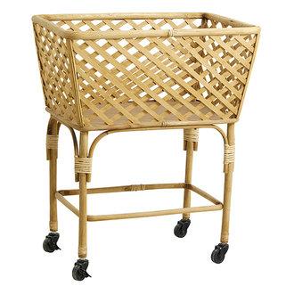Nordal ARVI square trolley basket, nature