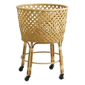 Nordal ARVI round trolley basket, nature