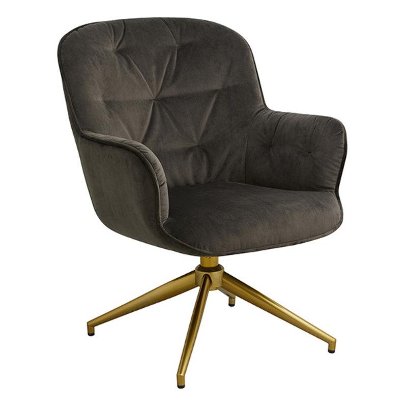 Nordal-collectie LEA office chair, velvet