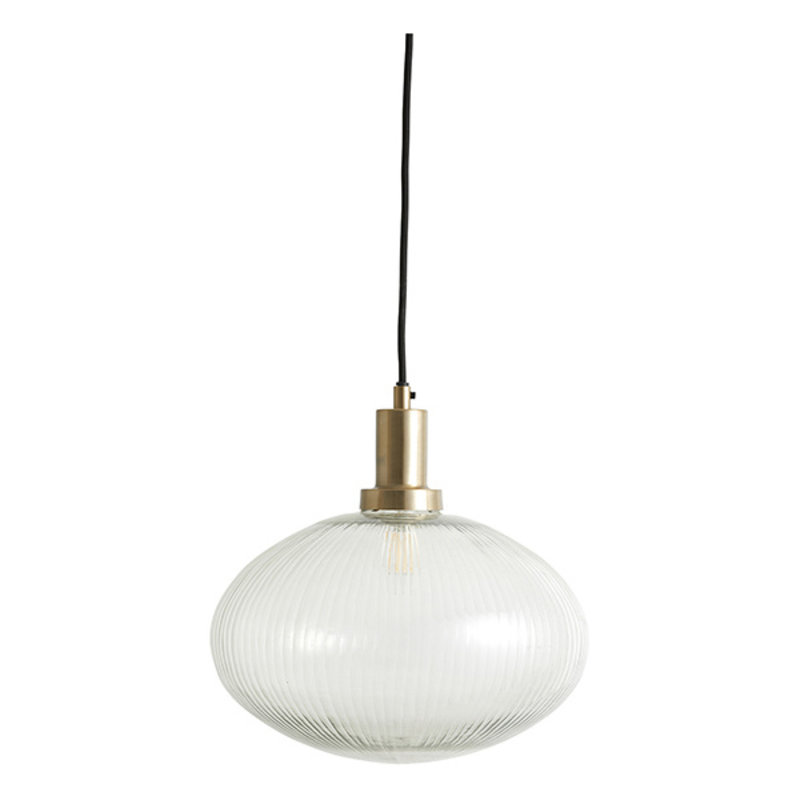 Nordal-collectie BONA lamp, clear glass w/grooves