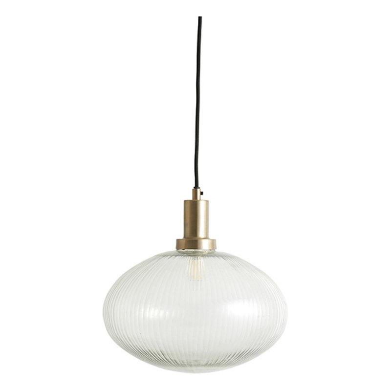 Nordal-collectie Hanglamp BONA helder glas met groeven