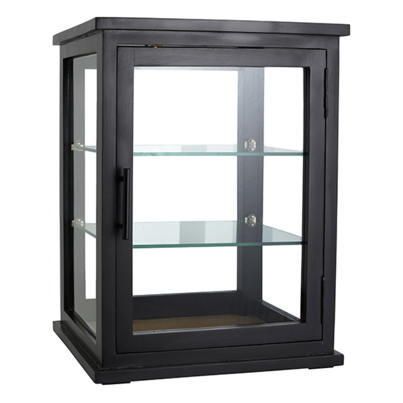 Nordal-collectie ARNO display cabinet, black wood