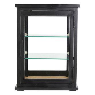 Nordal ARNO display cabinet, black wood