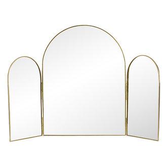 Nordal 3-delige tafelspiegel RUKIA goud