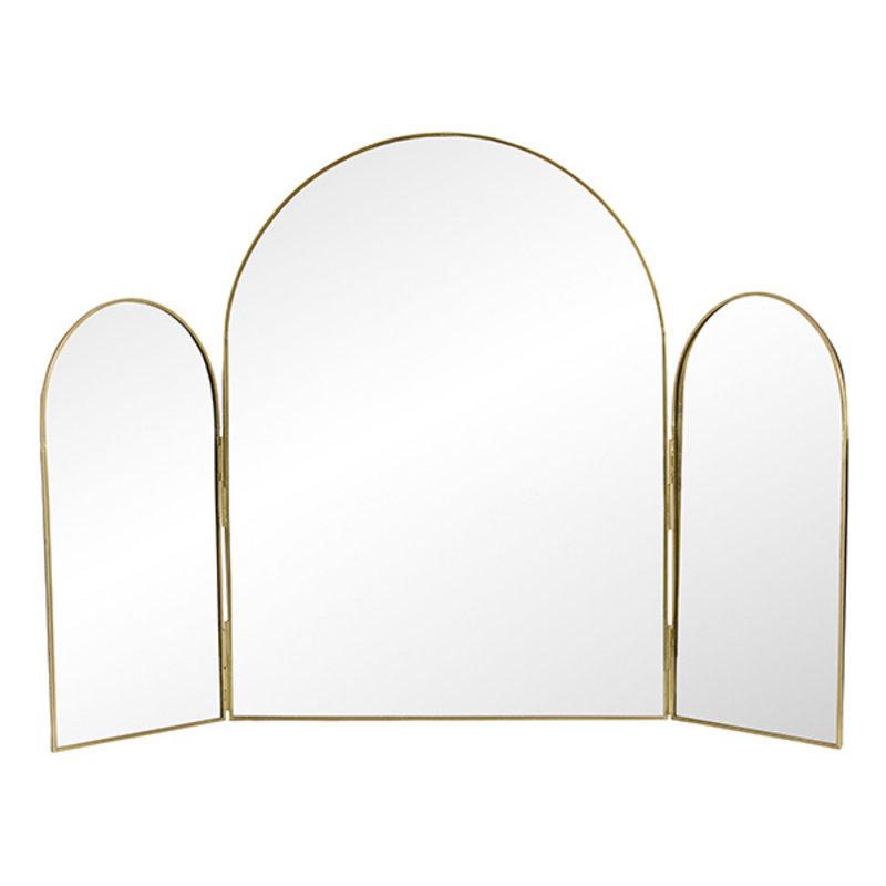 Nordal-collectie 3-delige tafelspiegel RUKIA goud