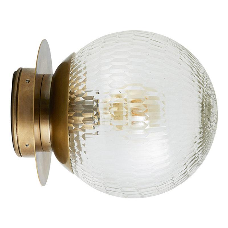 Nordal-collectie ZEUS outdoor wall lamp, golden plate