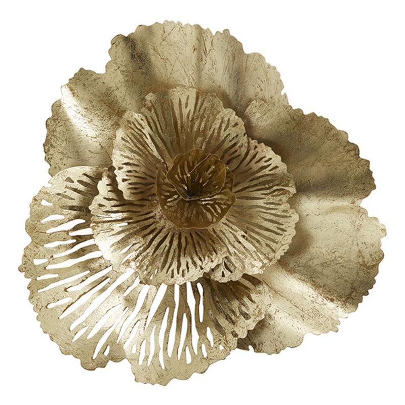Nordal-collectie Wanddecoratie HOY gouden bloem 54 cm