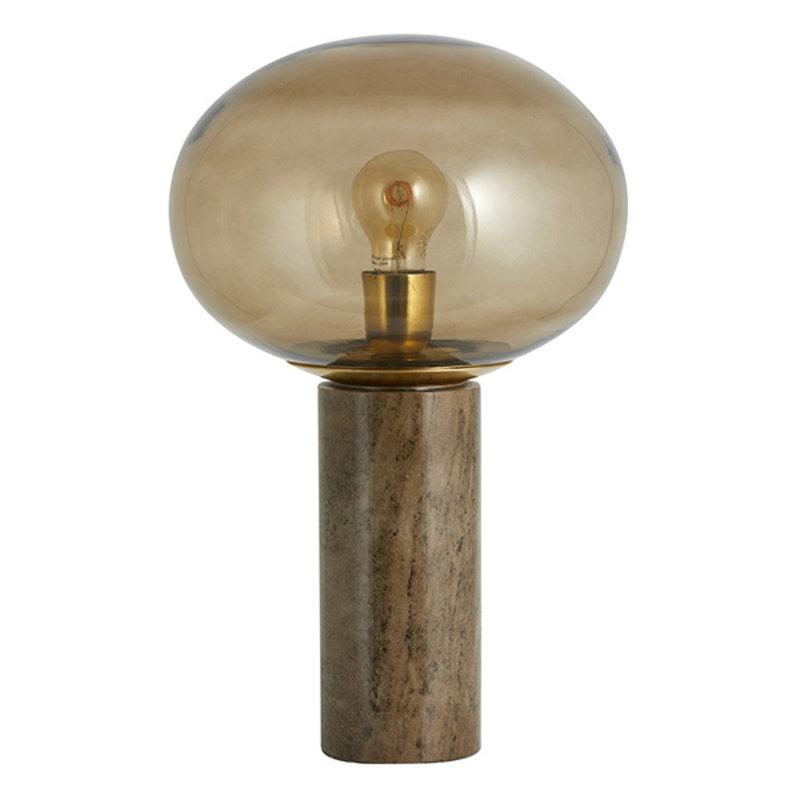 Nordal-collectie Tafellamp BES marmer bruin