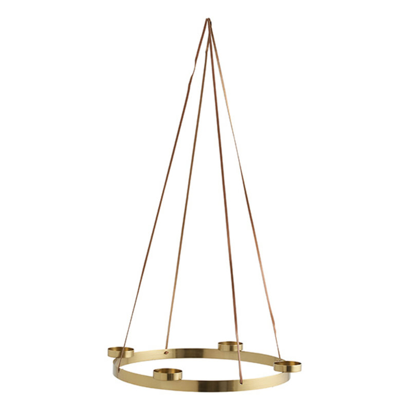Nordal-collectie ARONA candle holder L, gold, f/4 candles
