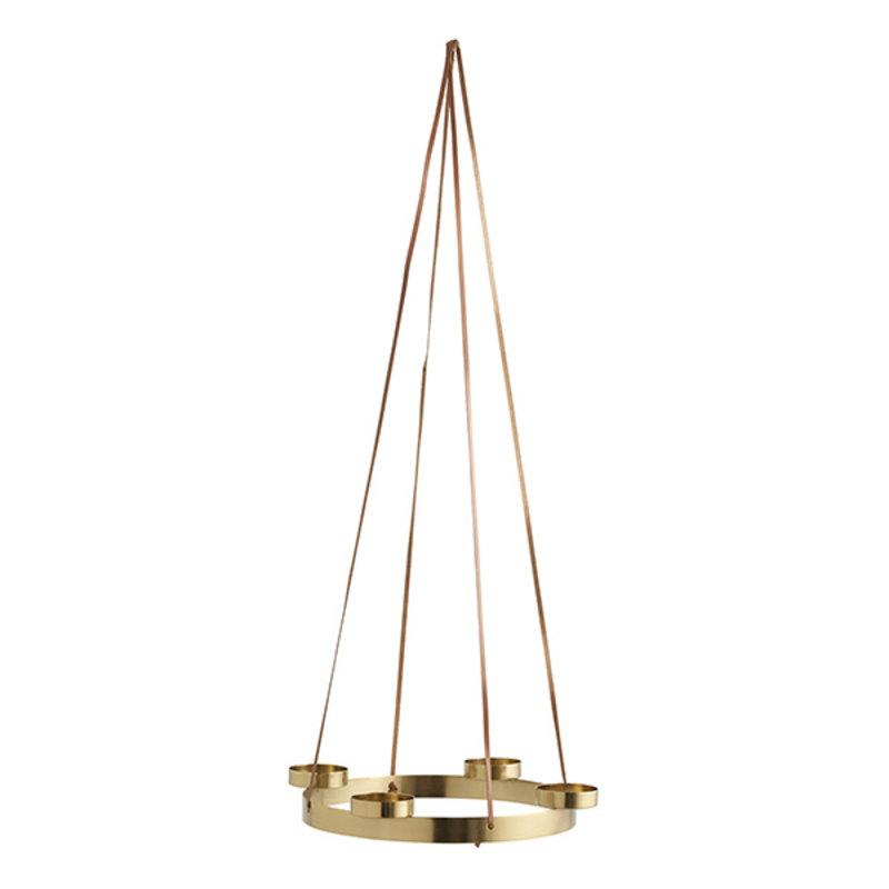 Nordal-collectie Hangkandelaar ARONA voor 4 kaarsen goud S